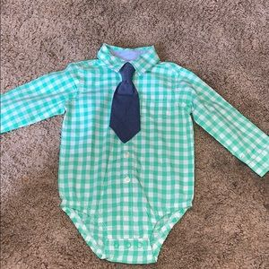 Carters plad button up 18 months